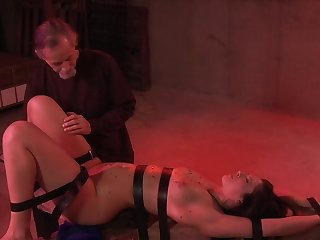 Jade Thomas derives pleasure from bondage, flogging and pussy stimulation