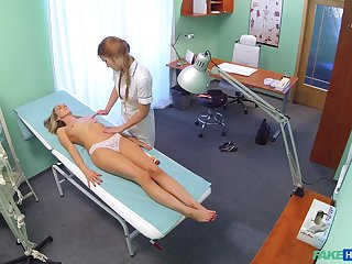 Handsome patient Foxies licked and fingered by nurse Alexis