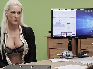 LOAN4K. Poor and gorgeous shop assistant has wild sex