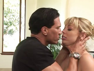 Hardcore mouth and pussy fucking for busty blonde Adrianna Nicole