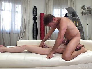 Teen slut banged by man's serious cock in full POV anal