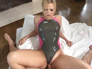 Wet Games With Sexy Swimmer